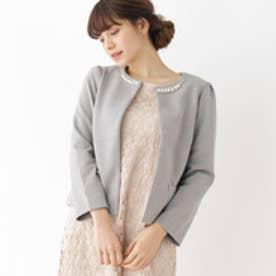 クチュール ブローチ Couture brooch 【WEB限定サイズ(SS・LL)】ポンチノーカラージャケット (グレー)