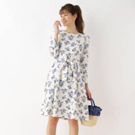 クチュール ブローチ Couture brooch 【WEB限定サイズ(LL)あり】フラワープリントワンピース (オフホワイト)