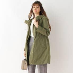 クチュール ブローチ Couture brooch ライナー付ミリタリーコート (カーキ)