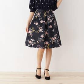 クチュール ブローチ Couture brooch 【WEB&一部店舗限定販売】フラワープリントサテンスカート (サックス)