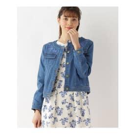 クチュール ブローチ Couture brooch ◆【WEB限定サイズ(SS・LL)あり】デニム刺繍ジャケット (ブルー)