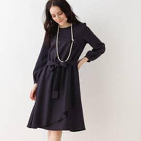 クチュール ブローチ Couture brooch 【WEB限定サイズ(S・LL)あり】フレアラッフルワンピース (ブルー系)