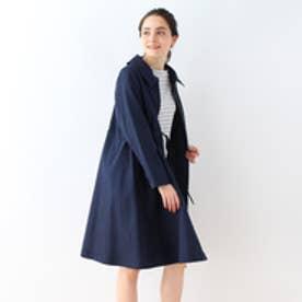 クチュール ブローチ Couture brooch 衿付きボリュームコート (ブルー系)