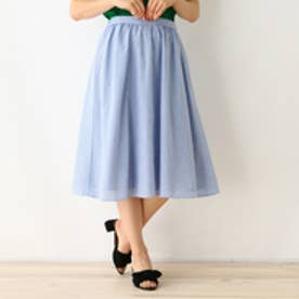 クチュール ブローチ Couture brooch 【WEB限定サイズ(S・LL)あり】ドビーストライプスカート (ブルー)