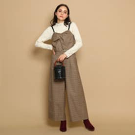 クチュール ブローチ Couture brooch キャミソール&パンツセットアップ (ダークブラウン)