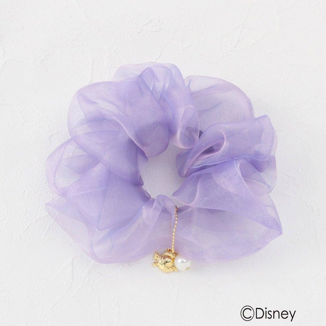 クチュール ブローチ Couture brooch ディズニープリンセス アリエル/オーガンジーシュシュ小 (ライトパープル)