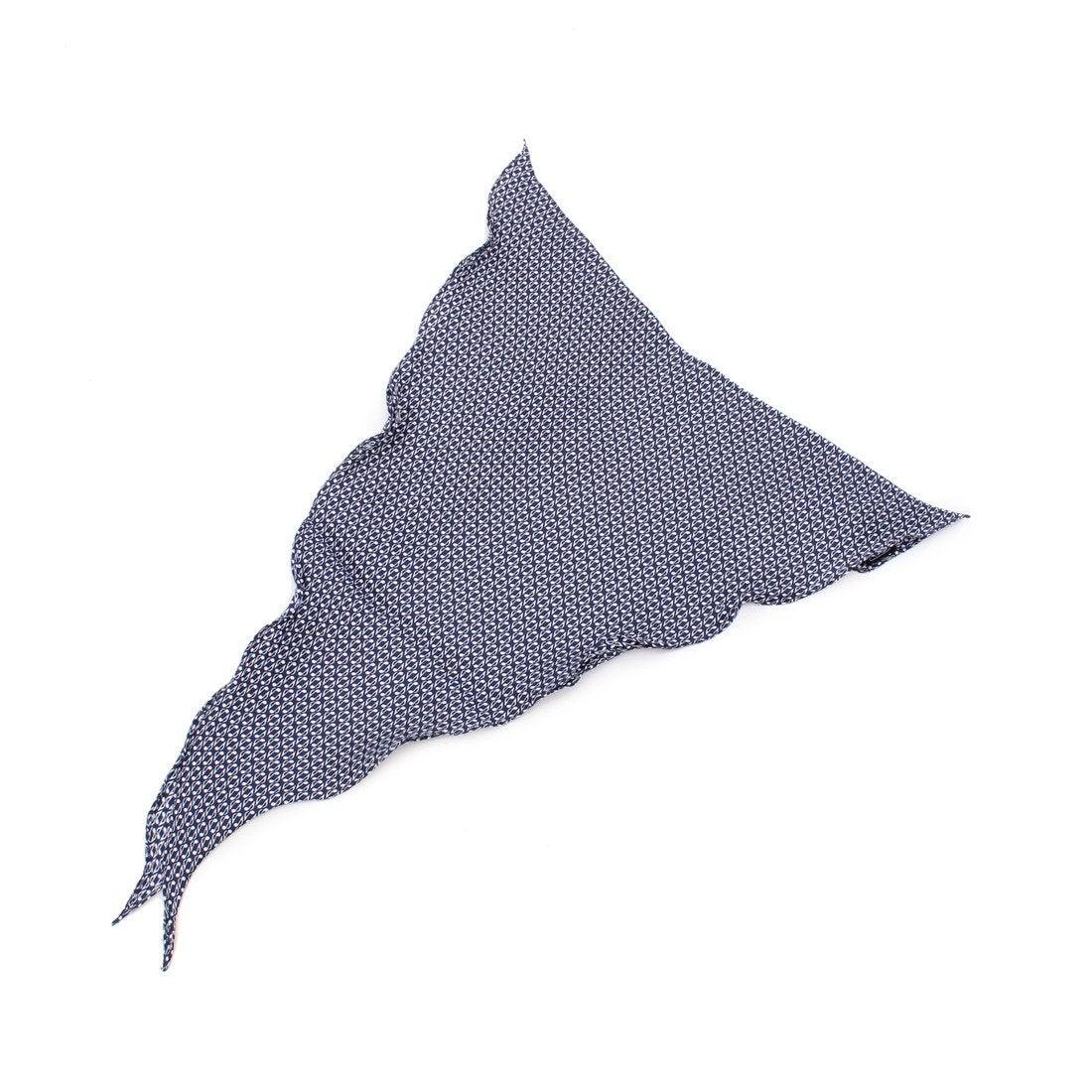 【SALE 70%OFF】クール ストラティン COOL STRUTTIN'&co. シルク100%幾何学柄スカーフ (ネイビー)