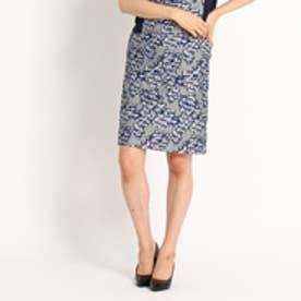 クードシャンス COUP DE CHANCE ジャカードタイトスカート (ブルー)
