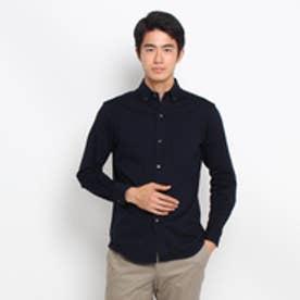 ドレステリア DRESSTERIOR 【洗える】ジャージボタンダウンシャツ (ブルー系)