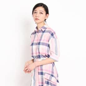 ドレステリア DRESSTERIOR DEVEAUX マドラスチェックシャツ (ベビーピンク)
