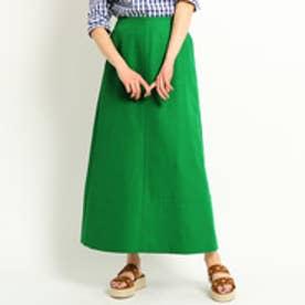 ドレステリア DRESSTERIOR ダブルクロスカラースカート (グリーン)