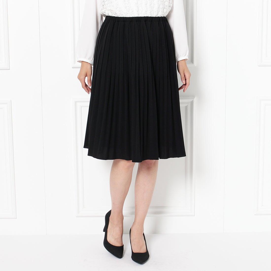 ロコンド 靴とファッションの通販サイトグローブgrove【オンライン限定先行販売】細プリーツスカート(ブラック)