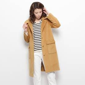 グローブ grove ライナー&付け衿 ステンカラーコート (キャメル)