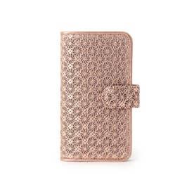 ヒロコ ハヤシ HIROKO HAYASHI GIRASOLE(ジラソーレ) 手帳型iPhoneケース (ピンク)