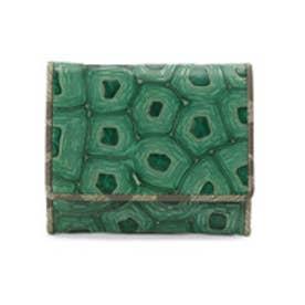 ヒロコ ハヤシ HIROKO HAYASHI COLLABORAZIONE(コラボラツィオーネ) 薄型ミニ財布 (グリーン系)