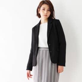 インデックス INDEX 【洗える】ジャージ素材テーラードジャケット (ブラック)
