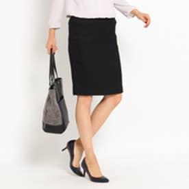 インディヴィ INDIVI [S]プリペラシャインストレッチタイトスカート (ブラック)