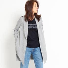 インディヴィ INDIVI 【VERY4月号掲載】[S]へちまカラーロングカットジャケット (ライトグレー)
