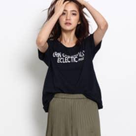 インディヴィ INDIVI [L]オーガニックロゴTシャツ (ネイビー)