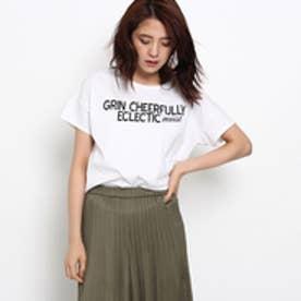 インディヴィ INDIVI [L]オーガニックロゴTシャツ (ホワイト)