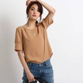 インディヴィ INDIVI [L]バックスリットとろみシャツ (ピンク系)