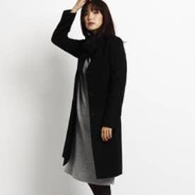 インディヴィ INDIVI ◆【VERY12月号掲載】カシミヤビーバースタンドカラーコート (ブラック)