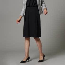 インディヴィ INDIVI 【UVカット・洗濯機で洗える】タックフレアスカート (ブラック)