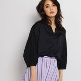 インディヴィ INDIVI 【WEB限定】袖エンブロシャツ (ブラック)