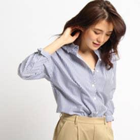 インディヴィ INDIVI ネオプレミアムブロードシャツ (ブルー)