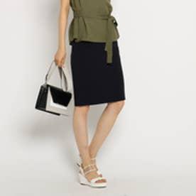 インディヴィ INDIVI 【UVカット・洗濯機で洗える】[L]ストレッチタイトスカート (ブルー系)