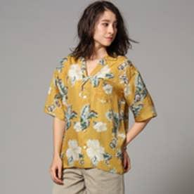 ジェット JET トロピカルプリントシャツ (ライトオレンジ)