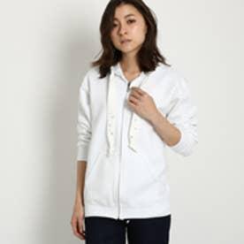 ジェット JET 【洗える】ビジューデザインパーカー (ホワイト)