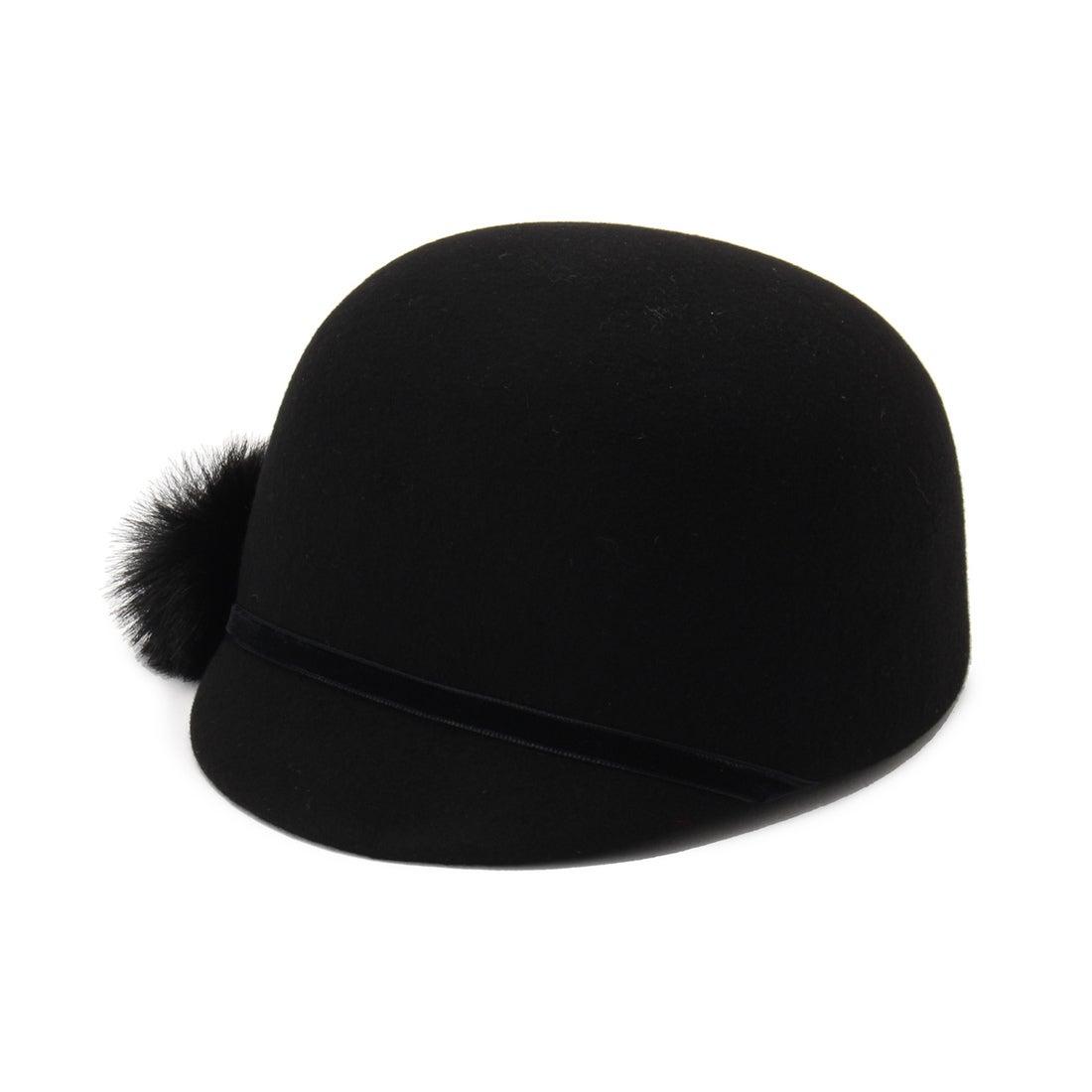 【SALE 50%OFF】モディファイ Modify HATS&DREAMSポンポン付ライディングハット (ブラック)