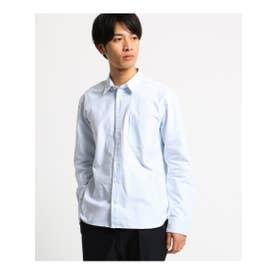 オペーク ドット クリップ OPAQUE.clip 【洗える】オックスストライプルーズフィットシャツ<MEN> (ライトブルー)