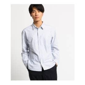 オペーク ドット クリップ OPAQUE.clip 【洗える】オックスストライプルーズフィットシャツ<MEN> (ネイビー)