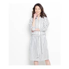 オペーク ドット クリップ OPAQUE.clip ジャージーシャツドレス (ホワイト系)