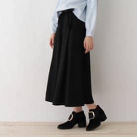 オゾック OZOC Aラインフレアマキシスカート (ブラック)