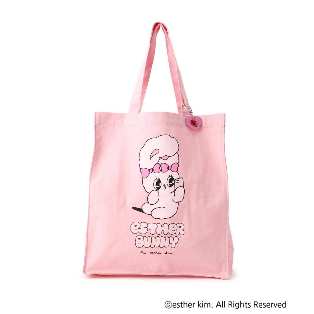 ピンク ラテ PINK-latte 【ESTHER BUNNY】トートバック (ベビーピンク)