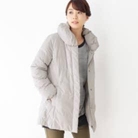 シューラルー SHOO-LA-RUE ショールカラー中綿コート (グレー)