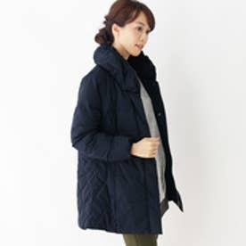 シューラルー SHOO-LA-RUE ショールカラー中綿コート (ネイビー)