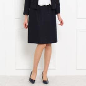 スーナウーナ SunaUna ツイードAラインスカート (ネイビー)