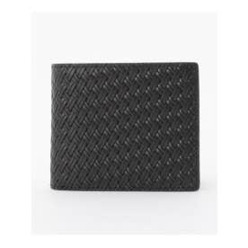 タケオ キクチ TAKEO KIKUCHI 〆メッシュ3方ラウンド 二つ折り財布 (ブラック)
