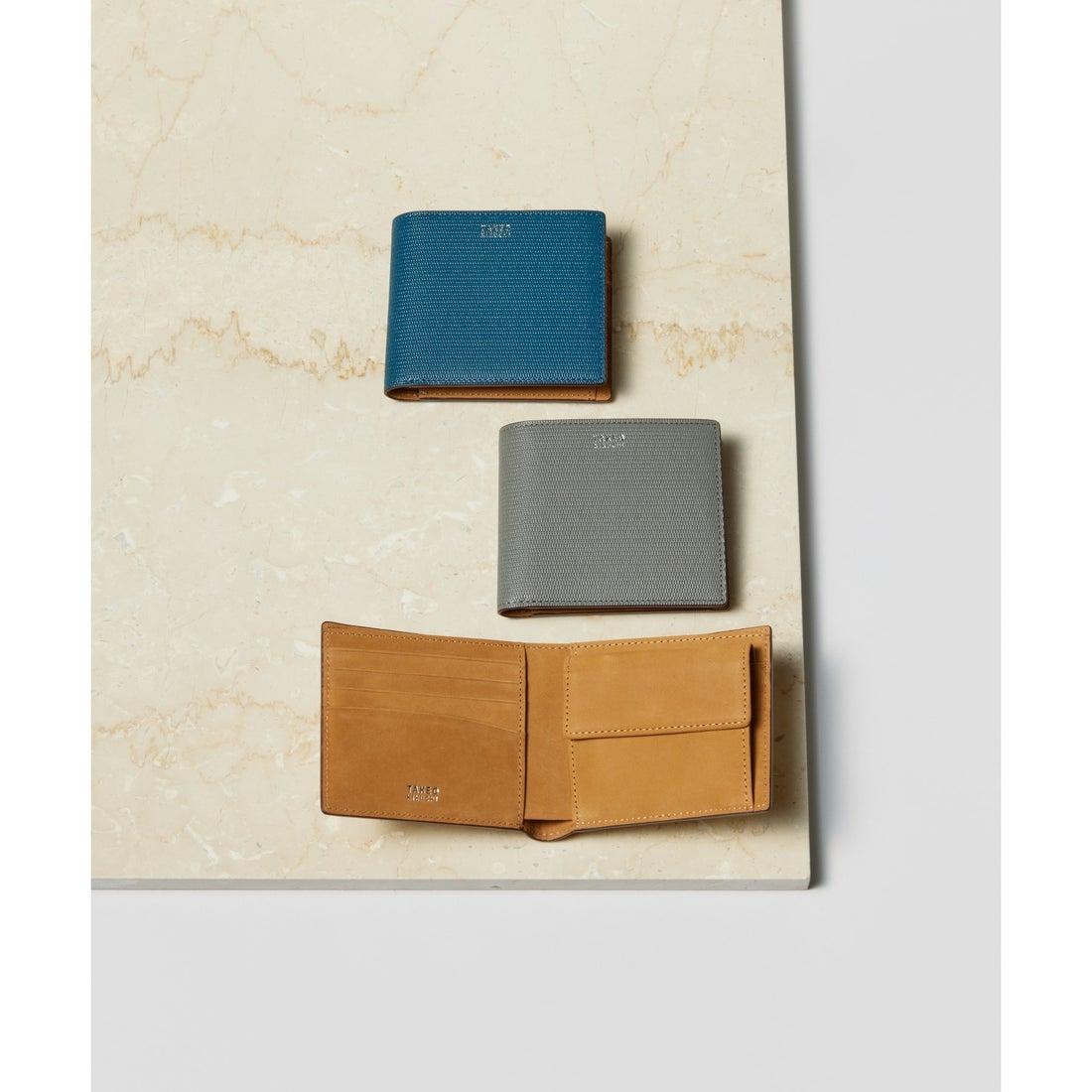 タケオ キクチ TAKEO KIKUCHI ミニメッシュ2つ折り財布 [ メンズ 財布 サイフ 定番 二つ折り ギフト プレゼント ] (ブルー)