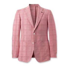 タケオ キクチ TAKEO KIKUCHI ピアツェンツァグレンチェックジャケット (ピンク系)