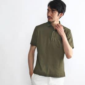タケオ キクチ TAKEO KIKUCHI 鹿の子ポロシャツ (カーキ)