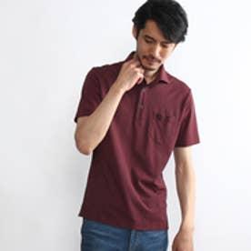 タケオ キクチ TAKEO KIKUCHI アーガイルポロシャツ (ワインレッド)