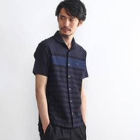 タケオ キクチ TAKEO KIKUCHI パネルジャガード前開きポロ (ブルー系)
