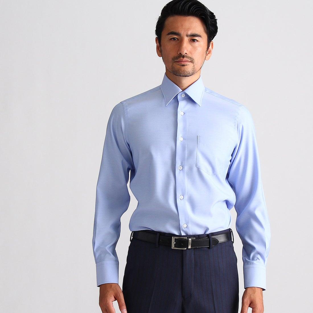 タケオ キクチ TAKEO KIKUCHI 【 洗える 】オックススーパードライシャツ [ メンズ シャツ ビジネス クールビズ ] (ライトブルー)