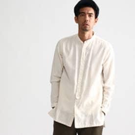 タケオ キクチ TAKEO KIKUCHI ビエラバンドカラーロングシャツ (オフホワイト)
