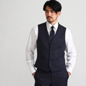 タケオ キクチ TAKEO KIKUCHI ウールモヘアオルタネートシングルベスト (ネイビー)